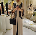 2016 nova Adulto Ocasional Robe Musulmane Turco Abaya Impressa Cardigan Vestido Robes Árabe Muçulmano Culto