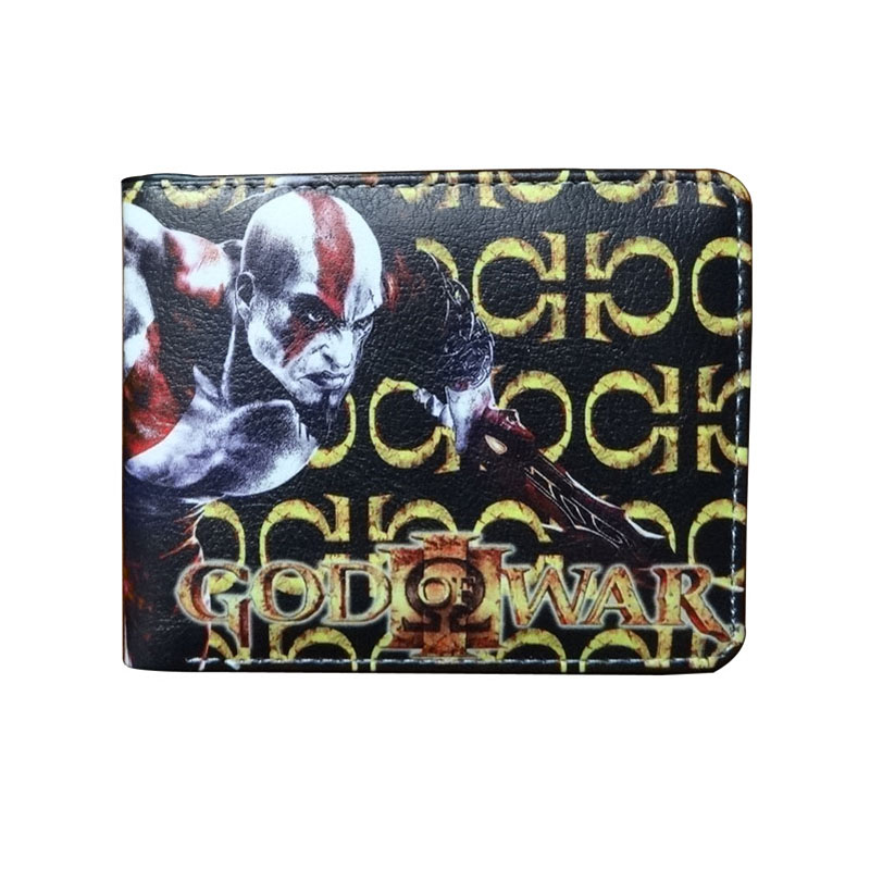 New Arrival Anime God of War Wallet Games Animation God War Purse carteira masculina Men Women Leather Short WalletsNew Arrival Anime God of War Wallet Games Animation God War Purse carteira masculina Men Women Leather Short Wallets