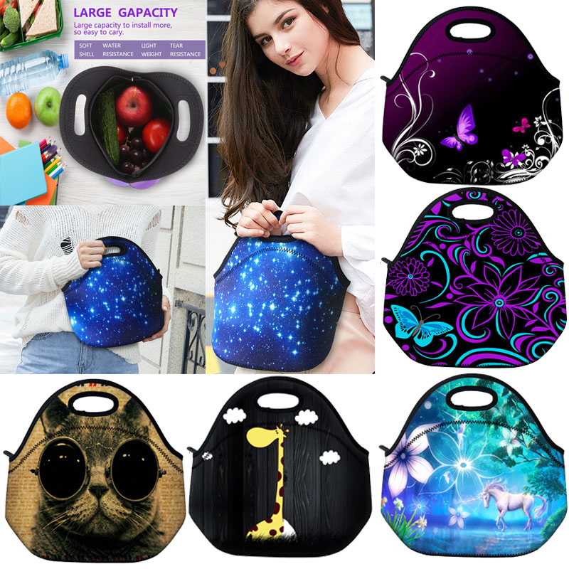 Waterproof Neoprene Insulated Cooler Lunch Bag Picnic Food Storage Box Container