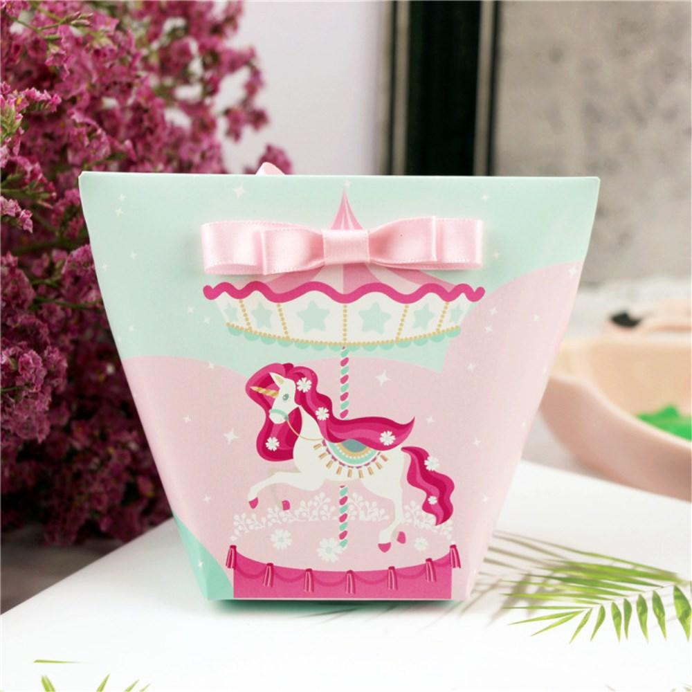 10pcs Flamingo Unicorn Paper Gift Bags Candy Box Christening ...