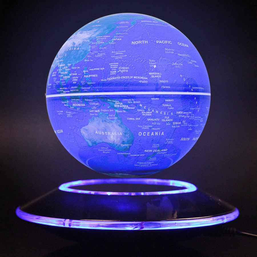 6 inch creative electronic magnetic levitation floating luminous 6 inch creative electronic magnetic levitation floating luminous globe world map for kids boss friend christmas birthday gifts in figurines miniatures gumiabroncs Gallery