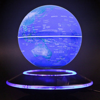6 Inch Creative Electronic Magnetic Levitation Floating Luminous Globe World Map For Kids Boss Friend Christmas