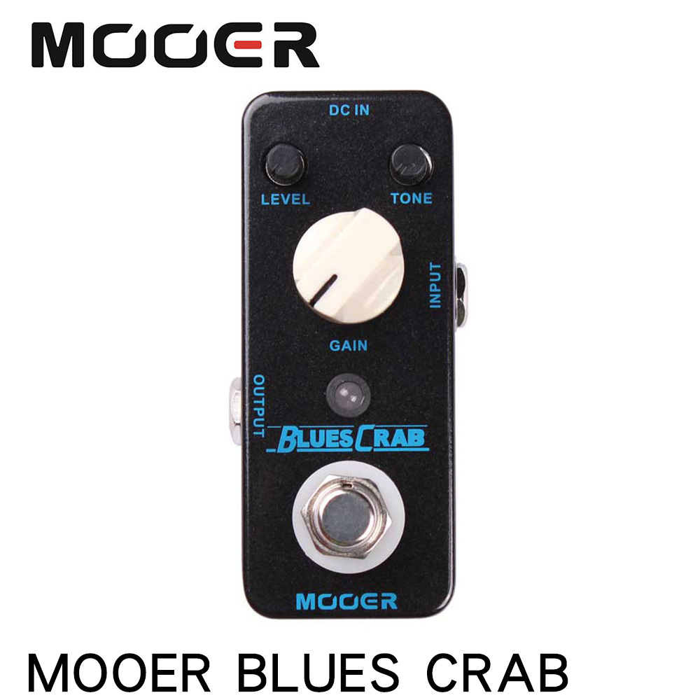 MOOER MBD1 BLUES CRAB Blues Overdrive Guitar Effect Pedal True Bypass Electric Guitar Pedal Full Metal Shell Guitar AccessoriesMOOER MBD1 BLUES CRAB Blues Overdrive Guitar Effect Pedal True Bypass Electric Guitar Pedal Full Metal Shell Guitar Accessories