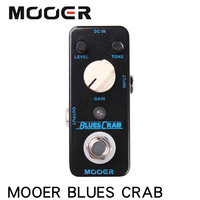 MOOER MBD1 BLUES CRAB Blues Overdrive Guitar Effect Pedal True Bypass Electric Guitar Pedal Full Metal Shell Guitar Accessories