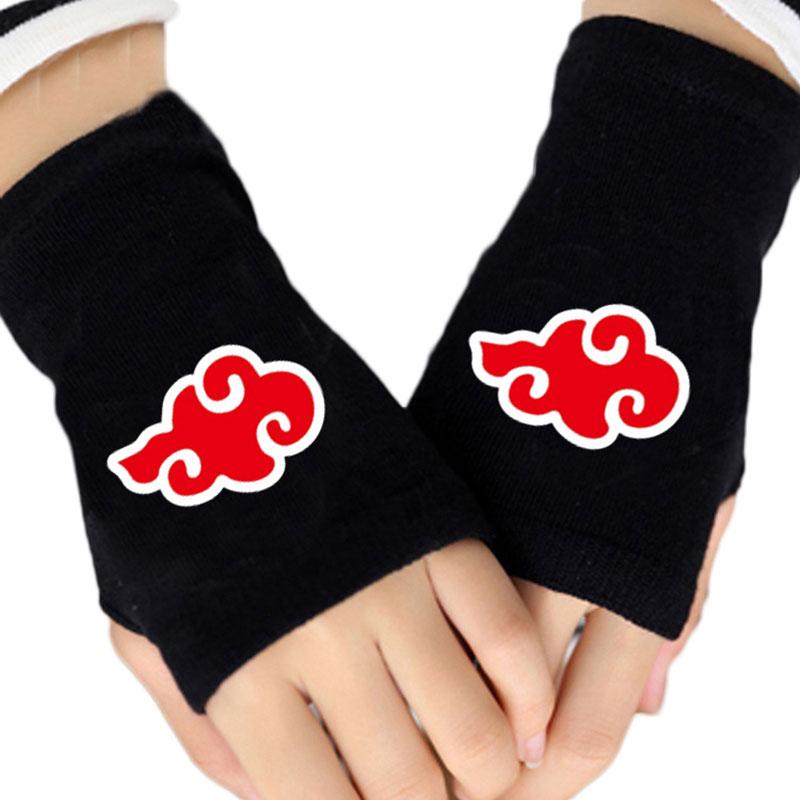 2017 Men Women Fashion Gloves Anime One Piece Naruto Attack On Titan Dragon Ball Finger-less Cotton Glove Cosplay Mitten Xms