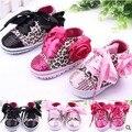 2016 primavera zapatos antideslizantes niñas of the niño de bebé zapatos de bebé primer caminante de algodón Floral leopard lamas 3 colores