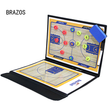 Foldable Basketball Board Magnetic Coach Portable Coaching Training Basketbol Tactical Clipboard Game