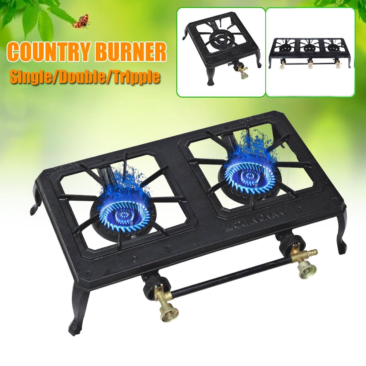 все цены на Single/Double/Tripple Burner Country Cooker Cast Iron Gas Energy Saving Burner Camping Tent Portable Outdoor Casting Iron Stove онлайн