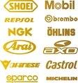 Patrocinador do carro Etiqueta 12 Logos/Piece HKS JDM Decalques De Corrida Sparco