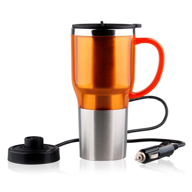 Creative Big belly Car Heating Cup Electric Kettle Cars Thermal Heater Cups Boiling Water Bottel Auto Accessories 450ML