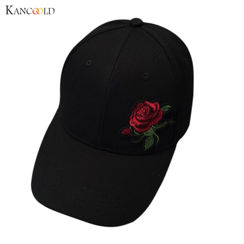 Fashion Cap Women Summer Spring Cotton Caps Women Flower Solid Adult baseball Cap Black White Hat Snapback Women Cap 2017 JU193