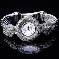 New Women's Watch Quartz Woman wristwatch S925 Sterling Silver Plum Blossom Bracelet Clock Creative Personality Fashion Popular