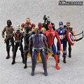 Nueva hot Marvel 10 unids/set Figura Super Heroes Avengers Superman Batman Iron Man Hulk Capitán América Thor Figura de Acción DEL PVC