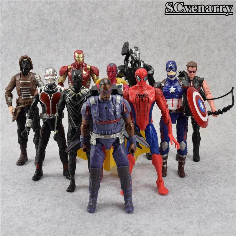 New hot marvel 10pcs set avengers figure super heroes superman batman hulk captain america thor - Heros avengers ...