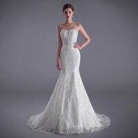 Sweetheart Mermaid Wedding Dresses Applique Bridal Wedding Gown Floor Length Sexy Mermaid Wedding Dress With Train