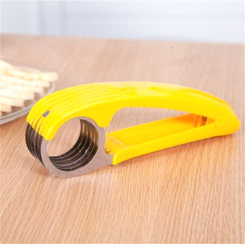 Fruit Cutting Tool Banana Slicer Banana Household Creative Fruit Cutter Full Set Fruits Slicer Kitchen Gadgets Stainless Steel in Manual Slicers from Home Garden