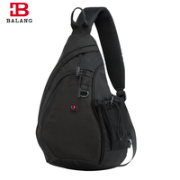 BALANG Brand Men S Crossbody Bag Large Capacity With Mesh Water Bottle For Short Trip Light