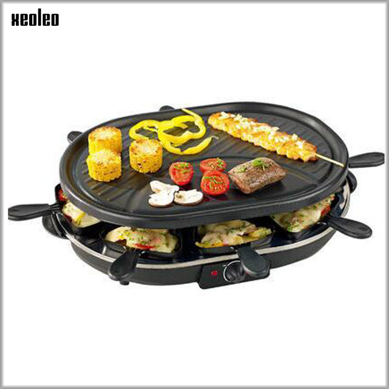 все цены на XEOLEO BBQ Electric Griddles Electric Contact Grill Household Barbecue machine Non-stick Surface and Double slate Grill 1200W онлайн