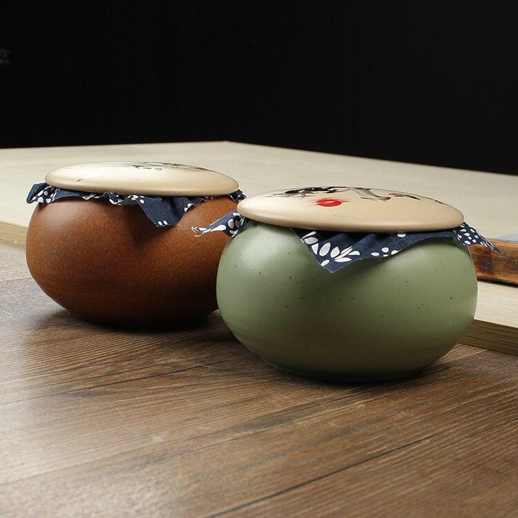 JIA-GUI luo cor esmalte cerâmica chá caddies