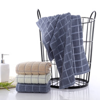 35x75cm Cotton Plaid Soft And Efficient Absorbent Supermarket Promotion Towel Sports Yoga Wipes Sweat Washcloth Home Bath Towels