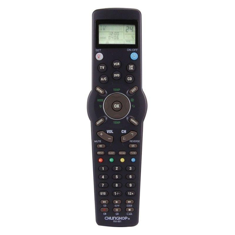 Nouveau Chunghop RM-991 TV/SAT/DVD/CBL/CD/AC/MAGNÉTOSCOPE télécommande universelle avec fonction d'apprentissage pour 6 filets en 1 code