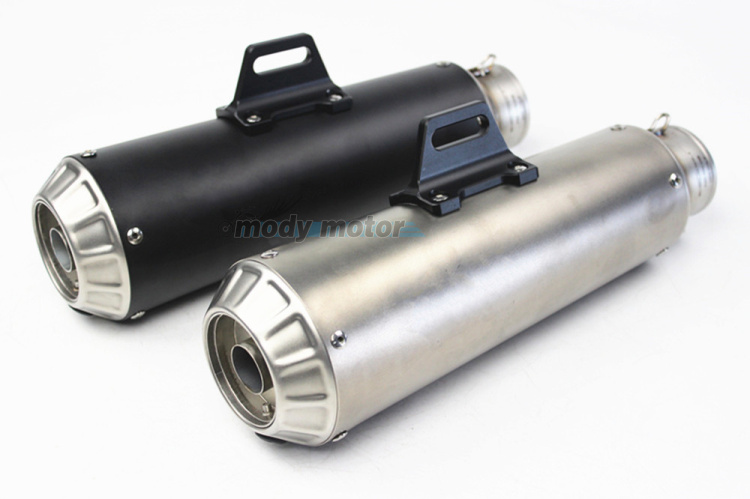 MGOD - Motorcycle Exhaust Pipe Muffler Inlet 60mm Escape Exhaust Mufflers stainless steel Exhaust Pipe SC exhaust with DB