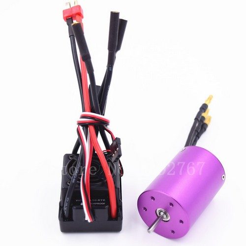 50A étanche ESC HSP 37017 moteur Brushless 540 3650 KV2700 KV3300 Support 2 S 3 S Lipo batterie Fit 1/10 voiture RC