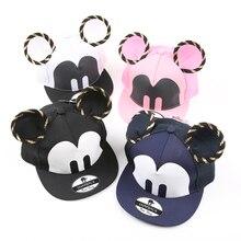 WENDYWU Summer Kids Cartoon Cute Big Mouse Ears Eyes Snapback Hats Mesh Cap Hip Hop Baseball Caps Boy Girl Topee Sun Hat