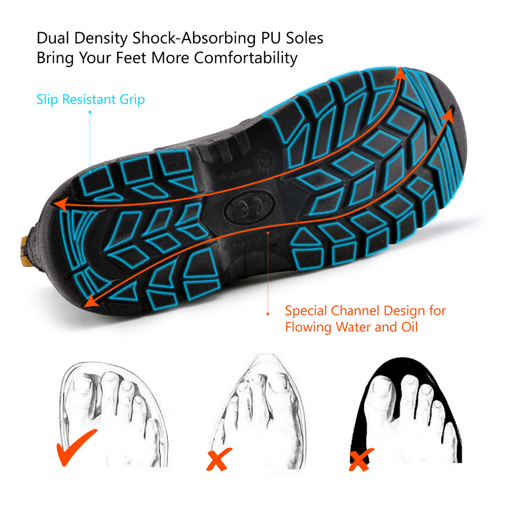 Chaussures de sécurité Safetoe S3 avec embout en acier, bottes de sécurité légères avec cuir imperméable pour hommes et femmes botas hombre - 5