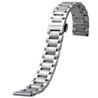MSTRE BXG8 Stainless Steel Link Wrist Watch Band Kit Bracelet Strap Replacement Butterfly Buckle Clasp For