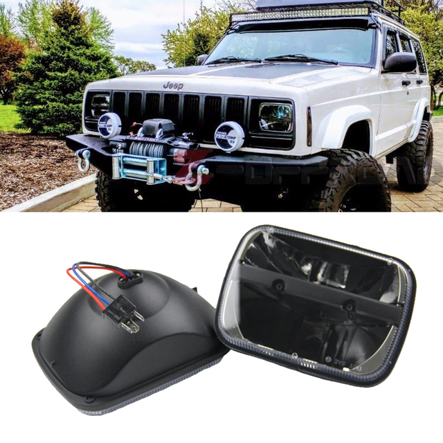 For Jeep Cherokee Xj 1984 To 2001 Lamps 5x7 U0026quot  Led Truck