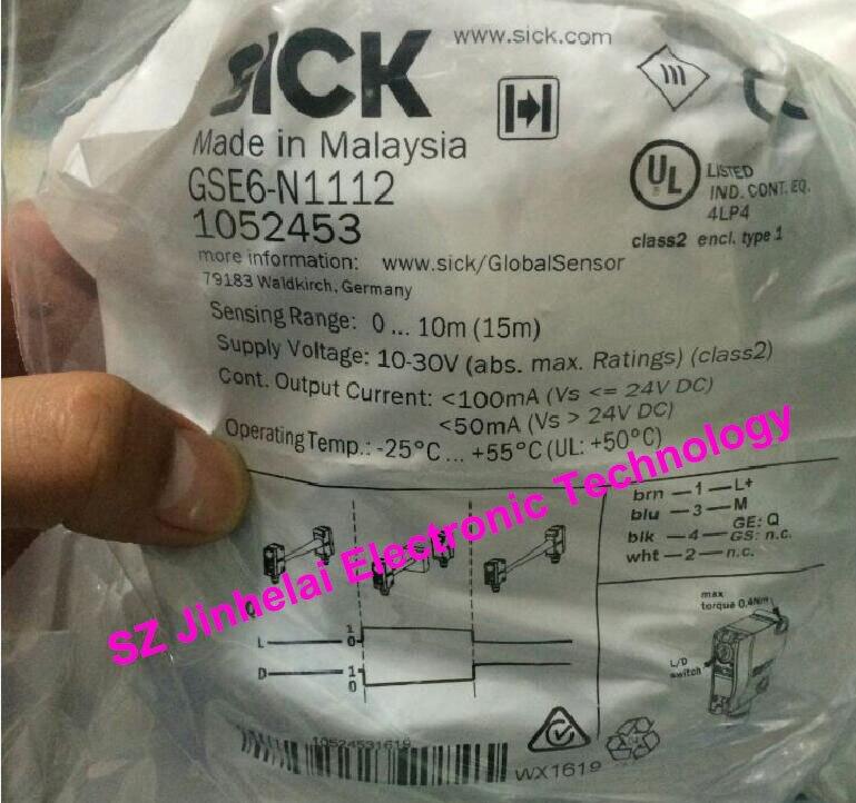 100% Authentic original GSE6-N1112(GS6-D1311,GE6-N1111) SICK Photoelectric switch japan sick photoelectric sensor photoelectric switch cdd 11n
