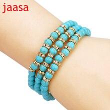 Nature stone Beads Bracelet Joker Tassel Leaves Pulseiras Charm Bracelets & Bangles for Women Jewelry