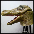 Halloween Party Cosplay1pc Brown Rubber Crocodile Face Mask Halloween Ball Villain Jokes Adult&Child Festival Carnival Mask