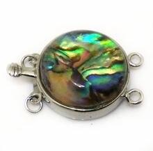 Ожерелье из натуральной круглой морской ракушки с открытой застежкой