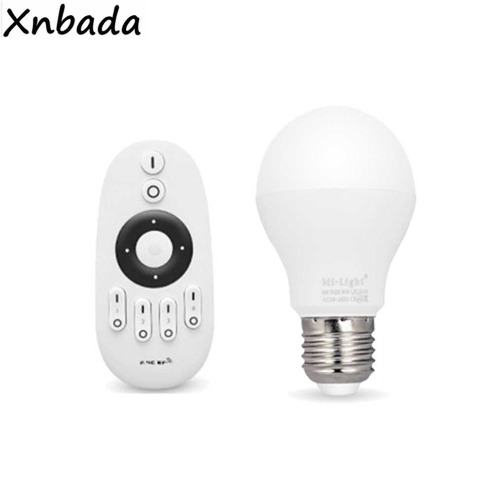 Milight 2.4G E27 6W CW WW Led Bulb Led Lamp AC85-265V Wireless RF Remote Led Controller For CW WW Led Bulb