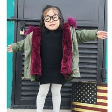 New Fashion Girls Boy Winter Coat Children Fur Heavy Hair Collar Cotton-Padded Clothes Thicken Many Kinds Color Clothes HL0823