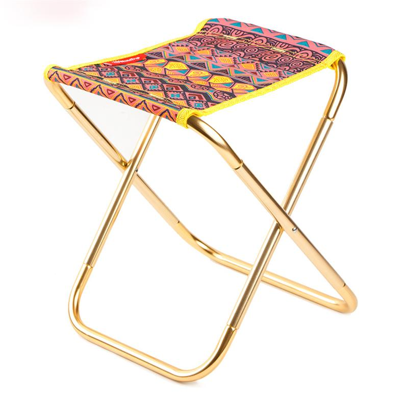 Terrific Us 13 28 36 Off Portable Outdoor Aluminum Alloy Folding Camping Stool Lightweight Collapsible Chair For Hiking Fishing Travelling Beach In Fishing Ibusinesslaw Wood Chair Design Ideas Ibusinesslaworg