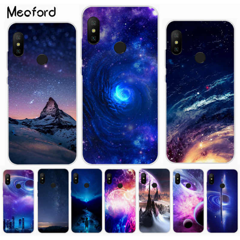 "Stars Space Planet Case on For Xiaomi Redmi Note 6 pro Case Cover Flashion Coque Redmi Note 6pro Global Version 6.26"" Phone Case"
