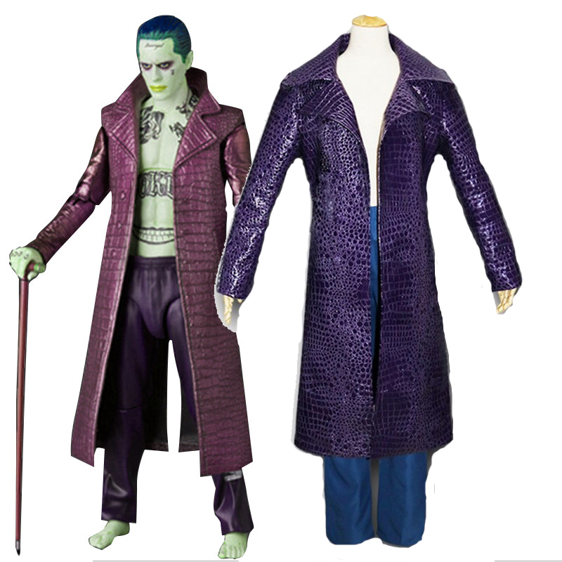 Free Shipping New Movie Suicide Squad Jared Leto Joker Cosplay Carnival Cosplay Costume Halloween Party Coats Jacket Pants Suits