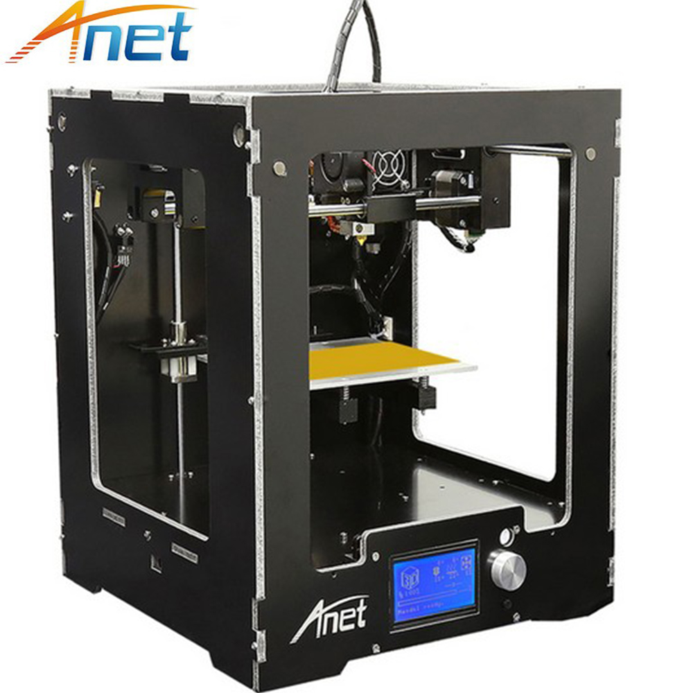 Anet A3 Full Assembled Aluminum-Acrylic Frame Big Size Desktop 3D Printer High Precision +LCD+Hotbed 8G SD Card+ Filament hot sale wanhao d4s 3d printer dual extruder with multicolor material in high precision with lcd and free filaments sd card