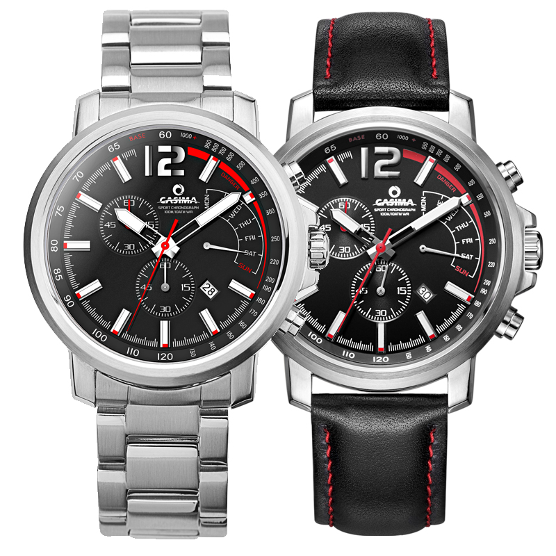 New luxury brand casima watches men casual charm function chronograph sport quartz wrist watch for Casima watches
