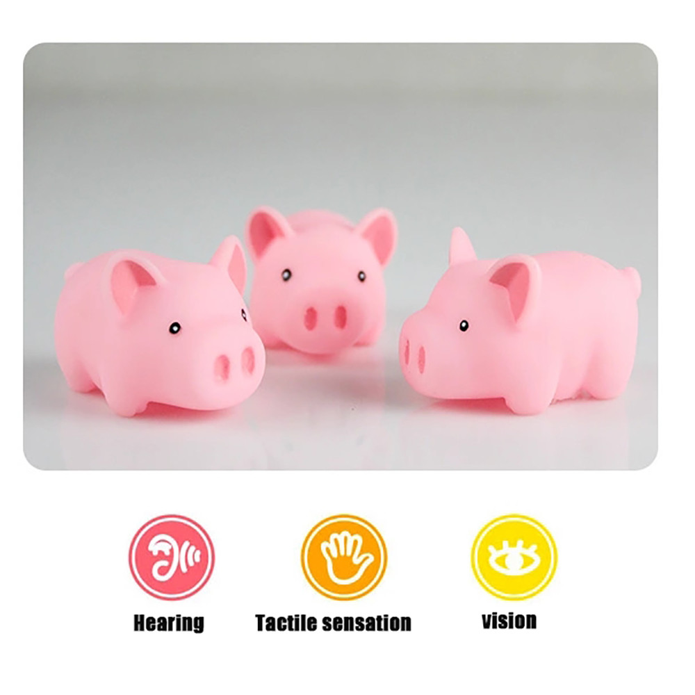 HIINST Mummy & Baby Rubber Race Squeaky Pig Family Kid Game Toys S30 Ag15 gift