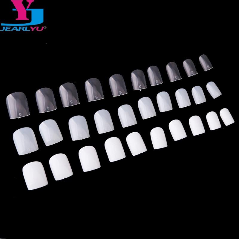 Накладные ногти с квадратной головкой, 600 шт., белые накладные ногти с натуральным покрытием для самостоятельного маникюра