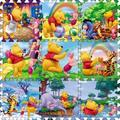 9 Pçs/set Winnie Rastejando Ginásio Tapete Esteira do Jogo Chão Bebê Dos Desenhos Animados subir Cobertor Jogo Tapete Puzzle de Espuma Eva Brinquedos Do Bebê Playmat presentes