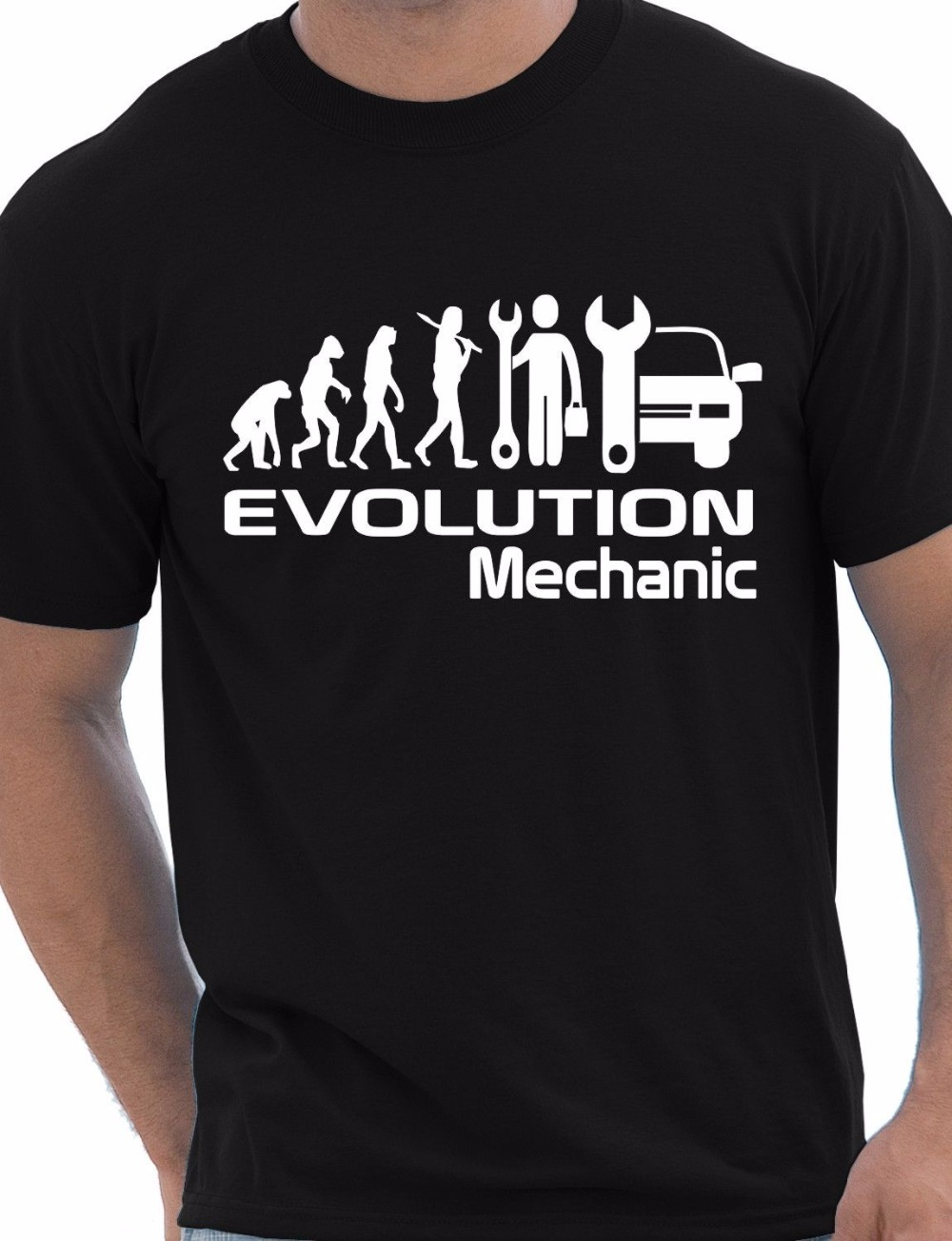 Evolution Of A Mechanic Job Work Gift Unisex T-Shirt More Size and Colors-A610 image