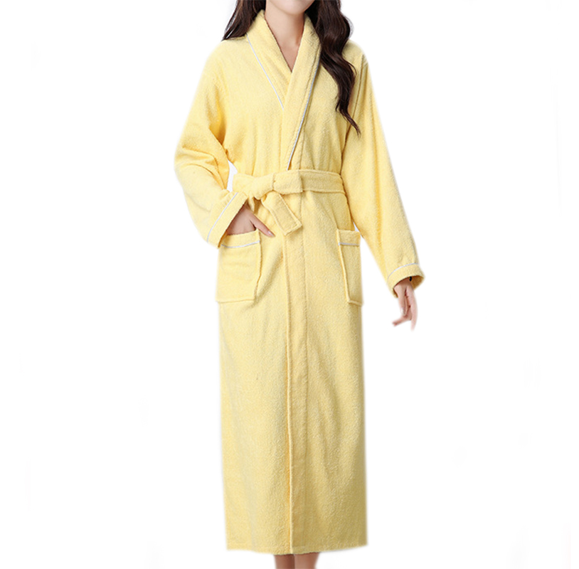 Winter Cotton Women's Towel Bathrobes Homewear Terry Bathrobe Solid Color Big Size Home Robe For Women
