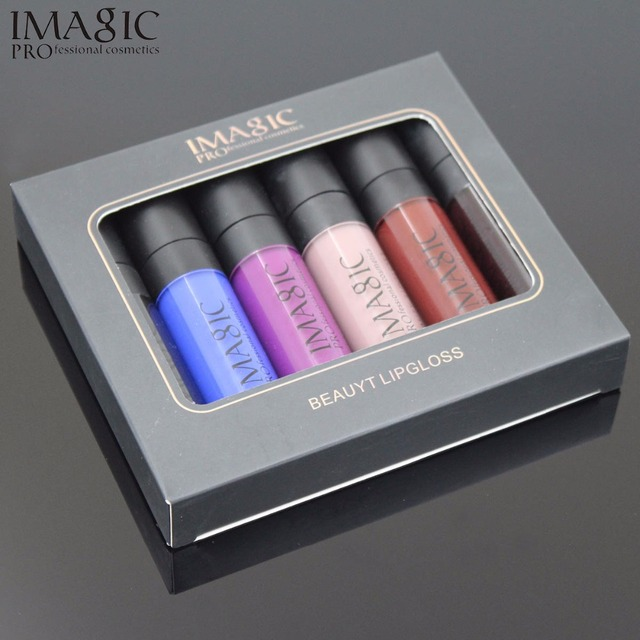 IMAGIC Matte Lip Gloss Waterproof Long Lasting Cosplay lipgloss Halloween Party Vampire Style lip 6pcs/kit