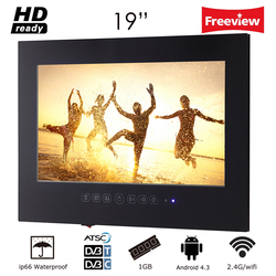 Souria 19 inch Android 4.2 Smart Waterproof LED TV for Bathroom LCD Monitor WIFI HD Home Television WIth Internet
