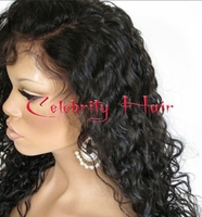 Free Shipping Afro Kinky Curly Wigs Black Color Heat Resistant Fiber Hair Wigs Kinky Curly Synthetic Lace Front Wig In Stock